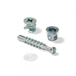 Emuca T15 cams kit with M6 bolts and M6 nuts for 13mm board