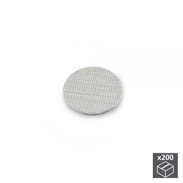 Batch of 200 Emuca D. 13 mm adhesive covers with a textile effect grey finish
