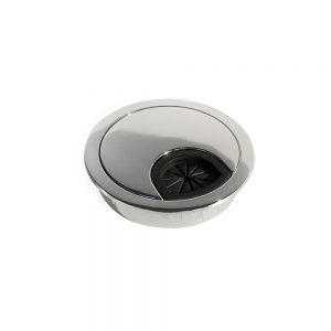 Emuca D. 60 mm Circum Cable grommet for embedding made from zamak with a chrome finish