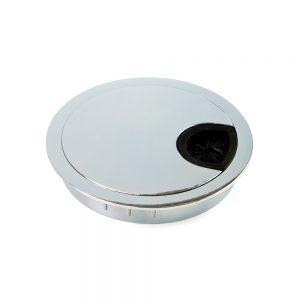 Emuca D. 80 mm Circum Cable grommet for embedding made from zamak with a chrome finish