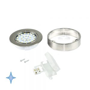 Emuca  Crux-in LED light bulb cool white light with satin nickel finish support