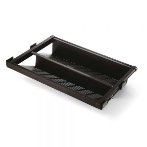 Emuca Moka shoe rack drawer for a 900 mm unit in a mocha painted finish