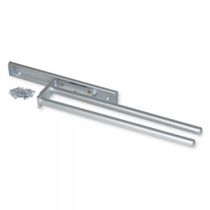 Emuca extendable towel rail with 2 arms 440 mm length made from anodised matte aluminium