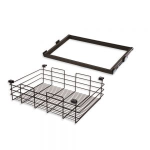 Emuca Moka runner and wire drawer kit for 800 mm unit in a moka painted finish