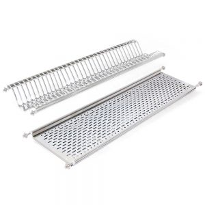 Emuca 1000 mm plate rack for kitchen units made from stainless steel