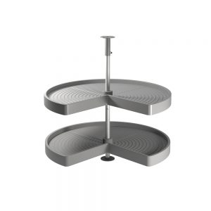 Set of Shelvo Emuca 3/4 trays for 900 mm unit in grey plastic