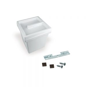 Emuca Onda 5-litre  bin with cover and plate for hanging