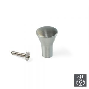 Batch of 25 Emuca Tucson furniture knob in zamak with a satin nickel finish